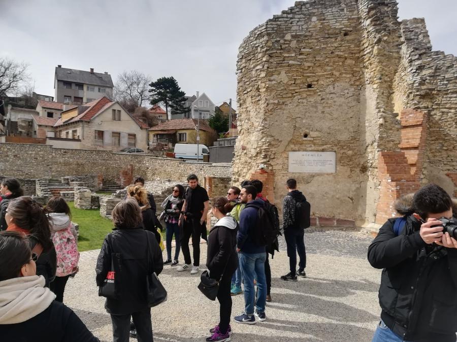 Tanulmányúton a tájépítész hallgatók Veszprémben